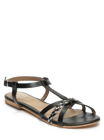"""Goldensun Leren sandalen """"Azalea"""" zwart"""
