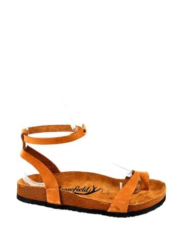 Moosefield Leren sandalen bruin