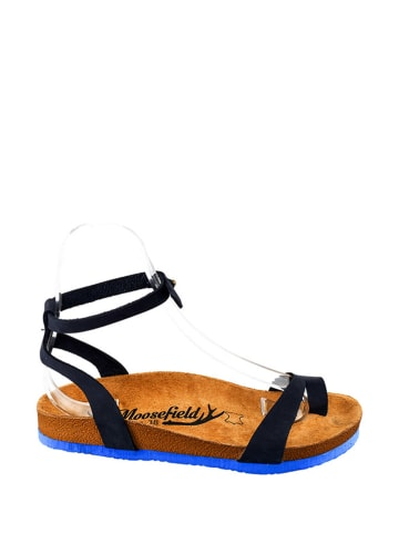 Moosefield Leren sandalen donkerblauw