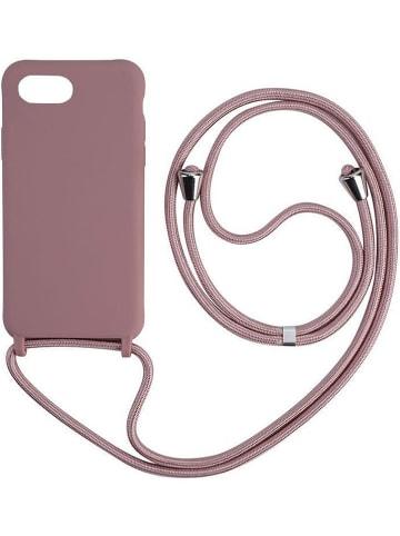 SmartCase Case w kolorze szaroróżowym do iPhone 7/8/SE 2020 z łańcuszkiem