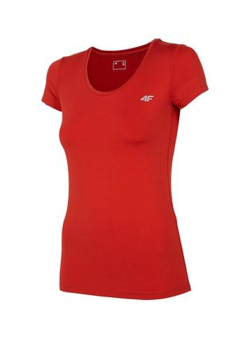 4F T-shirt funkcyjny w kolorze czerwonym