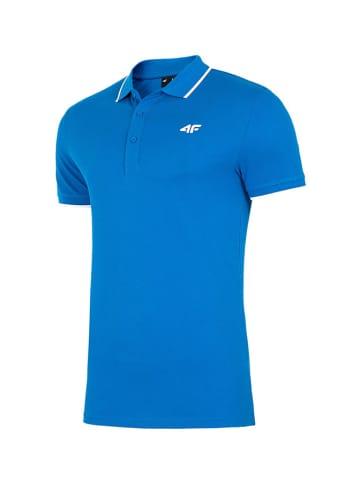 4F Poloshirt blauw