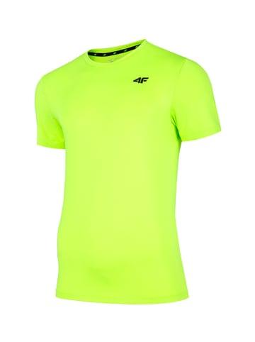 4F T-shirt funkcyjny w kolorze zielonym