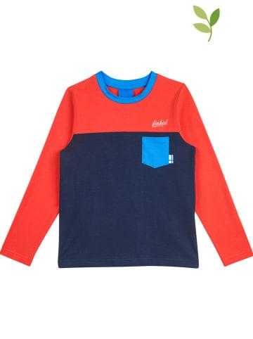 """Finkid Koszulka """"Puomi"""" w kolorze czerwono-granatowym"""