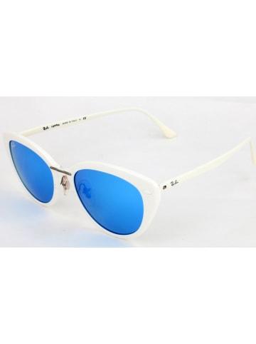 Ray Ban Damen-Sonnenbrille in Weiß/ Blau