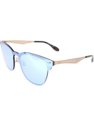 Ray Ban Damen-Sonnenbrille in Roségold/ Hellblau
