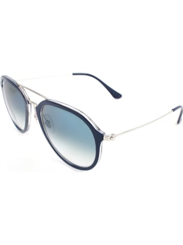 Ray Ban Damen-Sonnenbrille in Dunkelblau-Silber/ Hellblau
