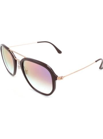 Ray Ban Unisex-Sonnenbrille in Dunkelbraun/ Gold