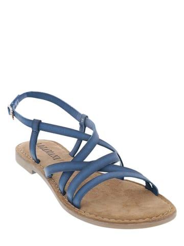 Lazamani Skórzane sandały w kolorze niebieskim