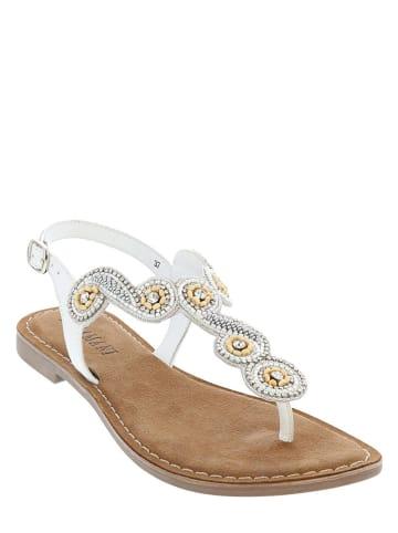 Lazamani Skórzane sandały w kolorze białym
