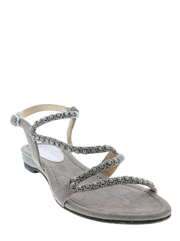 Lazamani Leder-Sandalen in Grau