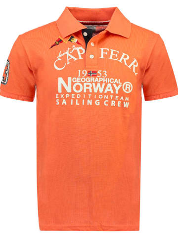 "Geographical Norway Poloshirt ""Korsail"" oranje"