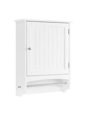 Songmics Szafka łazienkowa w kolorze białym - (S)48 x (W)65 x (G)16 cm