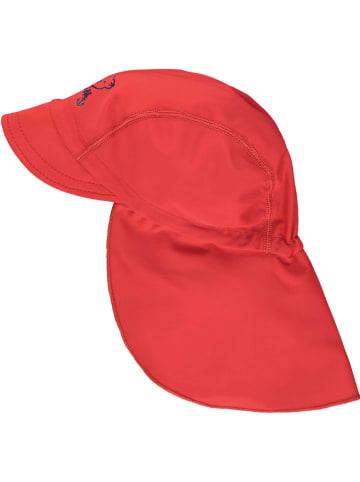 Steiff Czapka w kolorze czerwonym z osłoną karku
