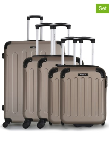 "BlueStar 5tlg. Hardcase-Trolleyset ""Madrid-D"" in Beige"