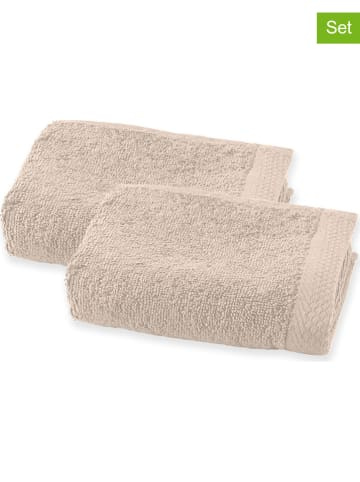 Soft by Perle de Coton Ręczniki (2 szt.) w kolorze beżowym dla gości