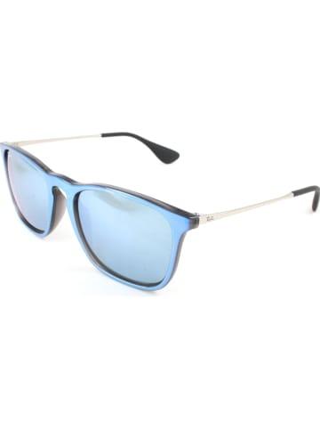 Ray Ban Herenzonnebril zwart/zilverkleurig
