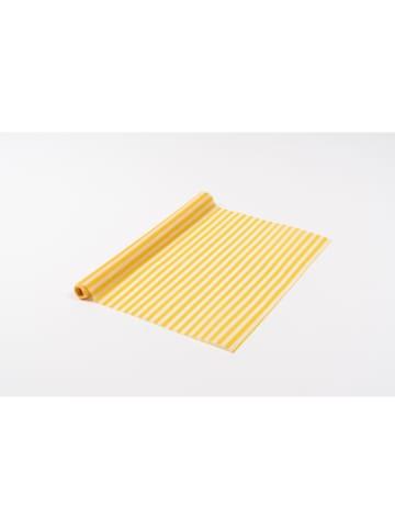 NUTS Rolka ściereczek w kolorze biało-żółtym z wosku pszczelego - 90 x 30,5 cm