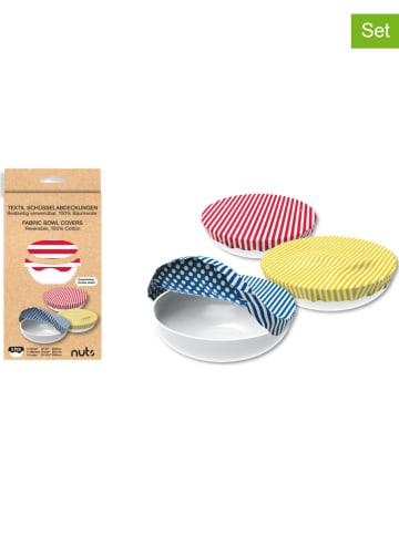 NUTS 3-delige set: komafdekkingen geel/blauw/rood