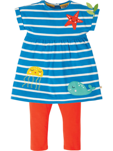 """Frugi 2-delige outfit """"Olive"""" blauw/rood"""