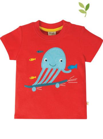 """Frugi Koszulka """"Creature"""" w kolorze czerwonym"""