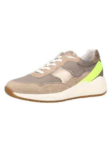 Sansibar Skórzane sneakersy w kolorze beżowym