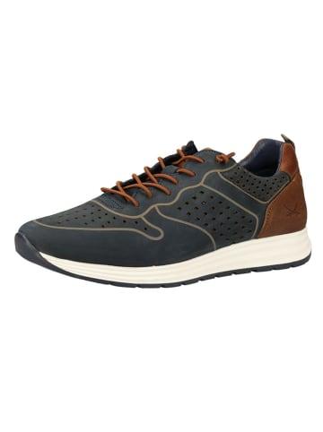 Sansibar Skórzane sneakersy w kolorze granatowym