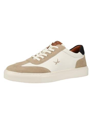 Sansibar Skórzane sneakersy w kolorze białym