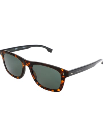 Hugo Boss Męskie okulary przeciwsłoneczne w kolorze brązowo-zielonym