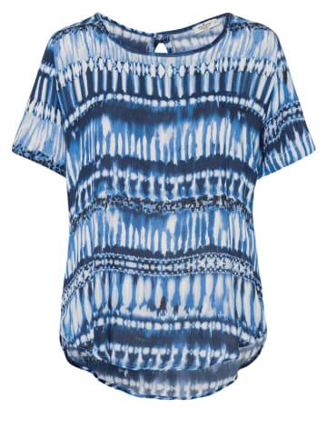 Cross Jeans Blouse blauw