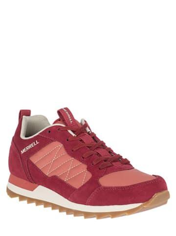 """Merrell Skórzane sneakersy """"Alpine"""" w kolorze czerwonym"""