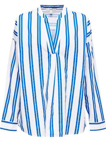 ESPRIT Bluse in Weiß/ Blau