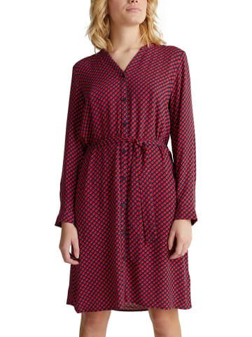 ESPRIT Kleid in Dunkelblau/ Rot