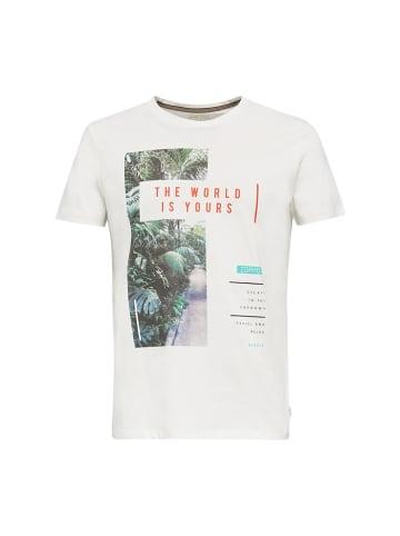 ESPRIT Koszulka w kolorze biało-zielonym