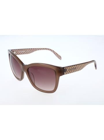 Karl Lagerfeld Damskie okulary przeciwsłoneczne w kolorze brązowym