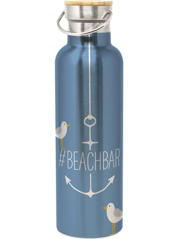 "Ppd Trinkflasche ""Beach"" in Blau - 750 ml"