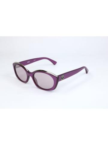 Moschino Damskie okulary przeciwsłoneczne w kolorze fioletowo-szarym