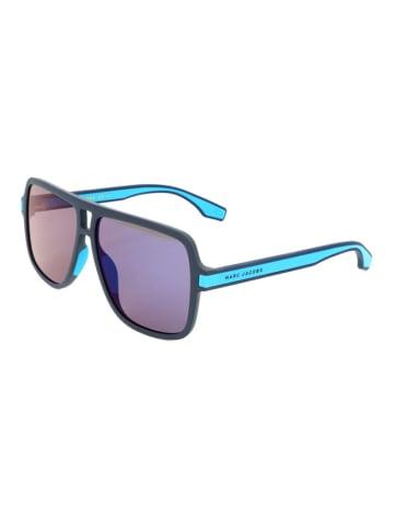 Marc Jacobs Męskie okulary przeciwsłoneczne w kolorze niebieskim