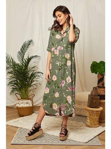 Lin Passion Linnen jurk kaki