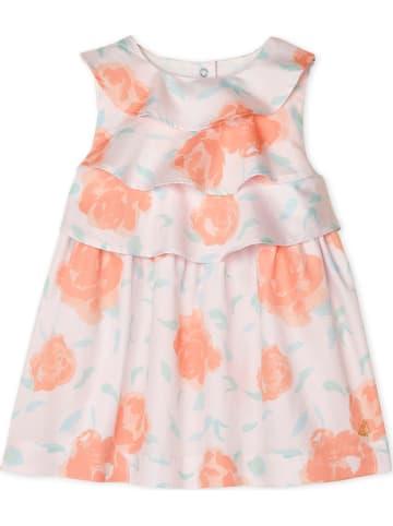 PETIT BATEAU Kleid in Weiß/ Orange