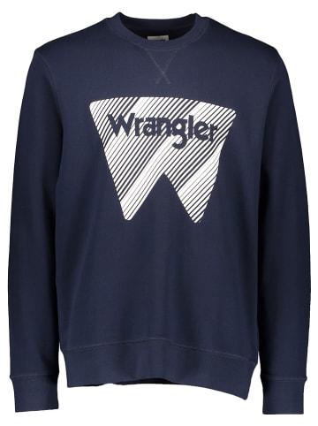 Wrangler Sweatshirt donkerblauw