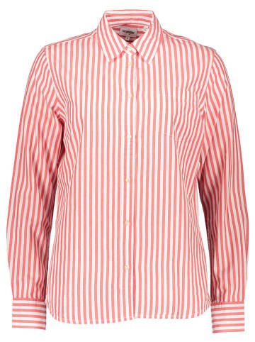 Wrangler Bluse in Rot/ Weiß