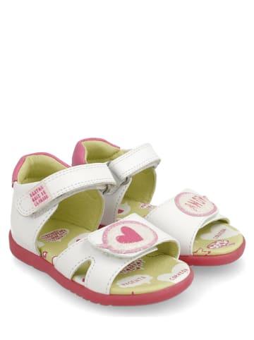 Agatha Ruiz de la Prada Skórzane sandały w kolorze białym