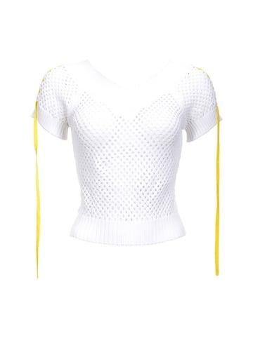 Pinko Sweter w kolorze białym