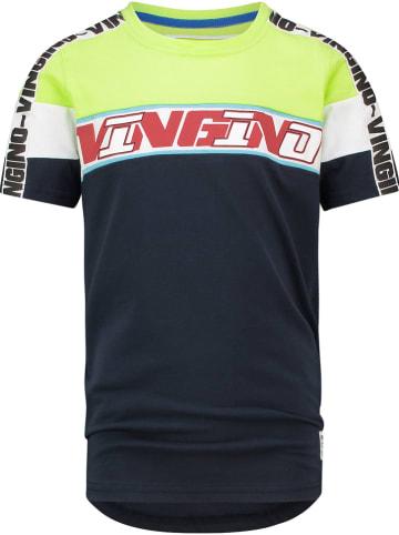 """Vingino Shirt """"Heikel"""" donkerblauw/geel"""
