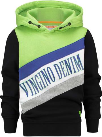 """Vingino Sweatshirt """"Nivesh"""" donkerblauw/groen"""