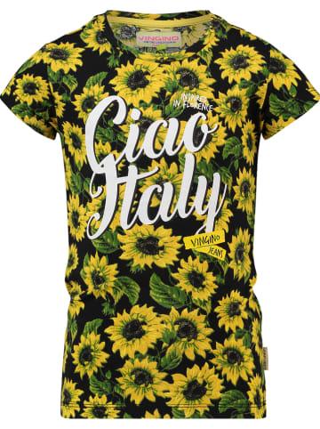 "Vingino Shirt ""Hattiya"" zwart/geel/groen"