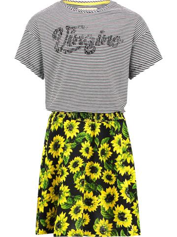 "Vingino Sukienka ""Pendia"" w kolorze szaro-żółto-czarnym"