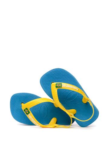 Havaianas Sandały w kolorze niebiesko-żółtym