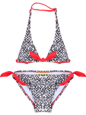 Claesens Bikini w kolorze biało-czerwono-szarym